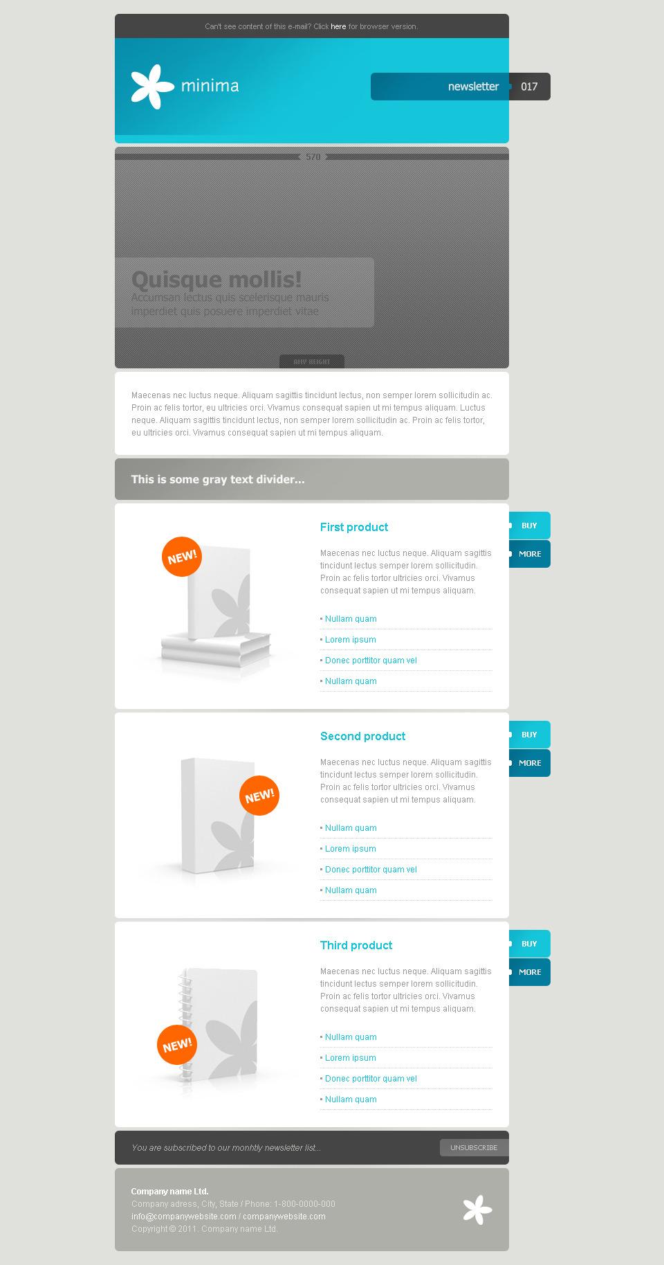 MINIMA – 10 e-mail templates