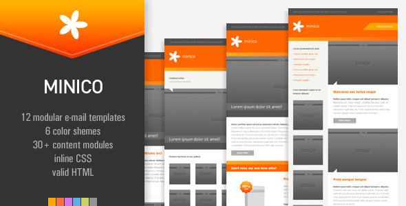 ThemeForest MINICO 12 e-mail templates 155984