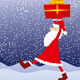 Download Vector Santa Claus With Gift