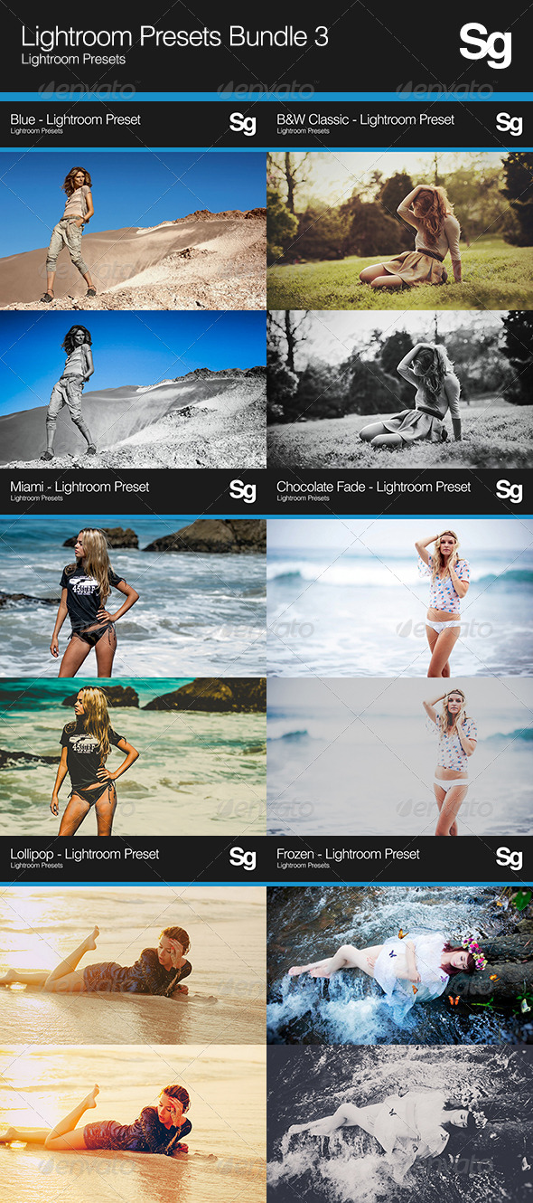 GraphicRiver Lightroom Presets Bundle 3 8240703