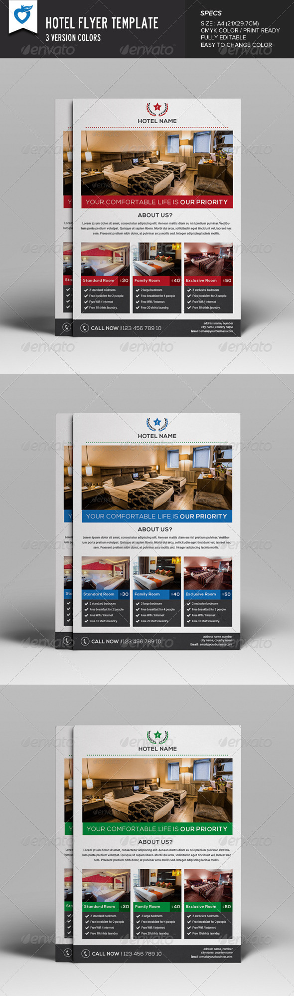 GraphicRiver Hotel Flyer 8240744