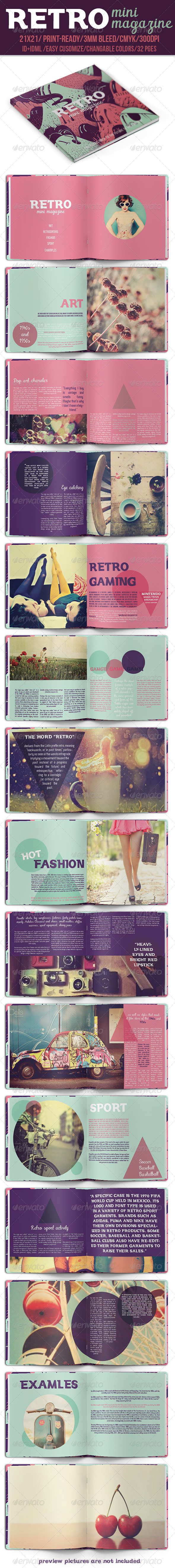 GraphicRiver Retro Mini Magazine 8240804