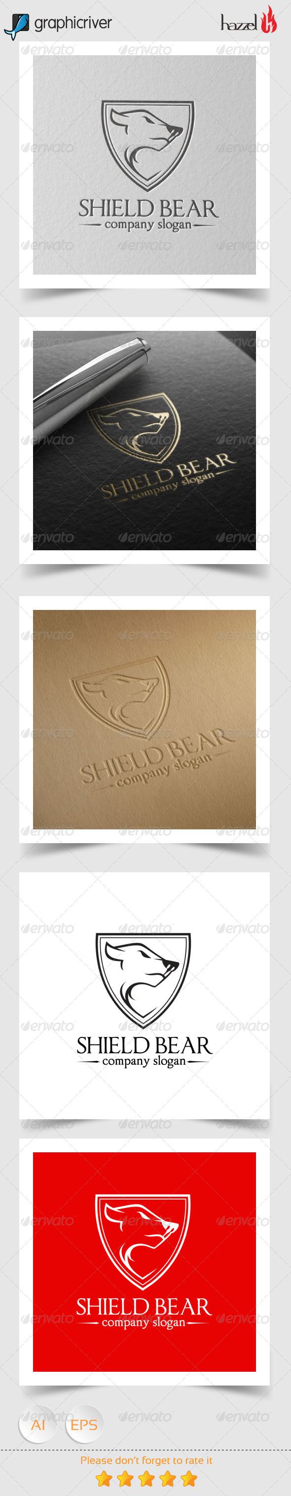 GraphicRiver Shield Bear Logo 8240842