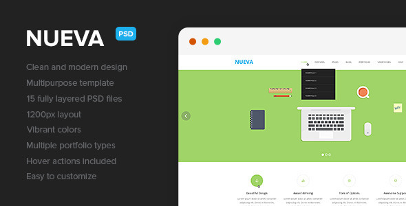 Nueva – Multipurpose PSD Template - Corporate PSD Templates