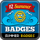 Summer Promotion Badges - GraphicRiver Item for Sale
