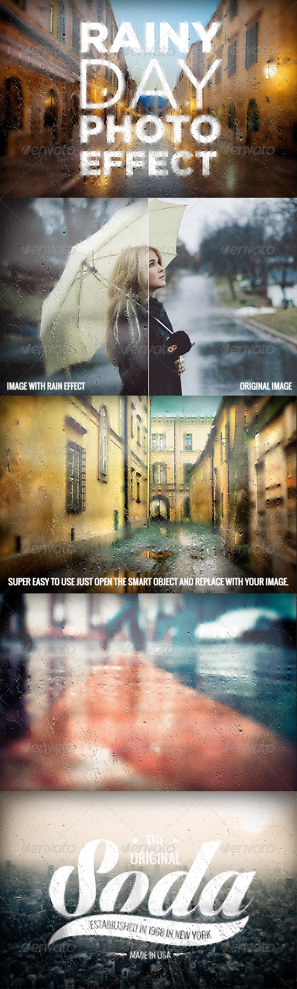 GraphicRiver Rainy Day Photo Effect 8241050