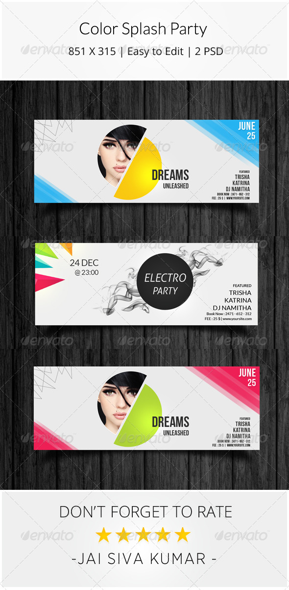 GraphicRiver Color Splash Party Timeline 8241065