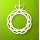 Circle Paper Applique on Green Background - GraphicRiver Item for Sale