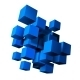 Composition of Blue 3D Cubes - GraphicRiver Item for Sale