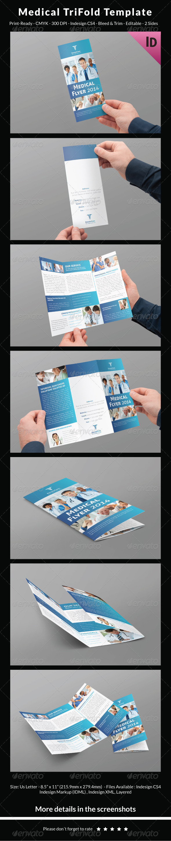 GraphicRiver Medical Trifold Template 8241344