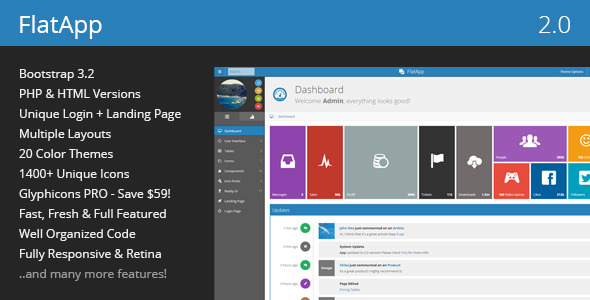 FlatApp - Premium Admin Dashboard Template - Admin Templates Site Templates