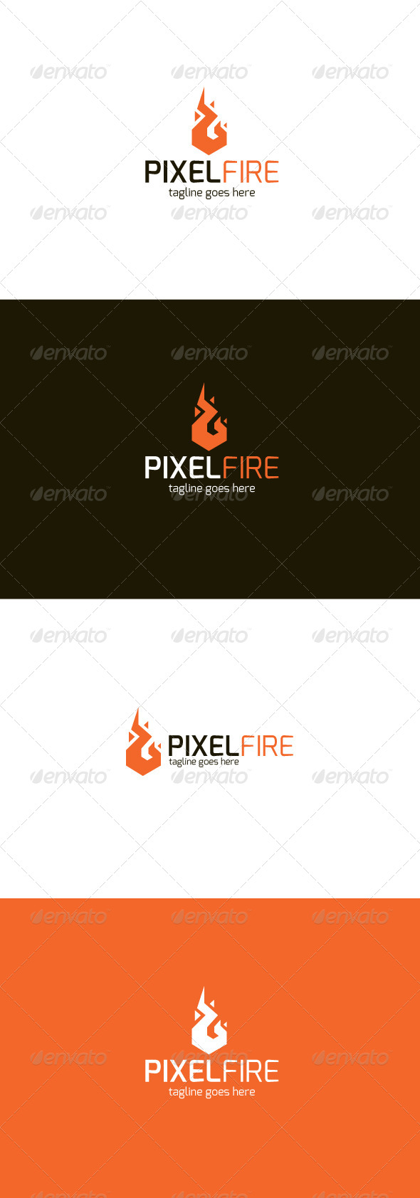 GraphicRiver Pixel Fire Logo 8241412