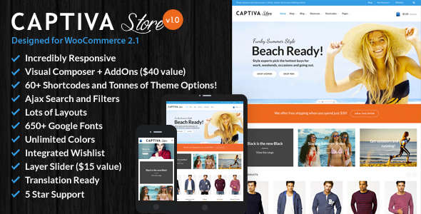 ThemeForest Captiva Responsive WordPress WooCommerce Theme 8241498