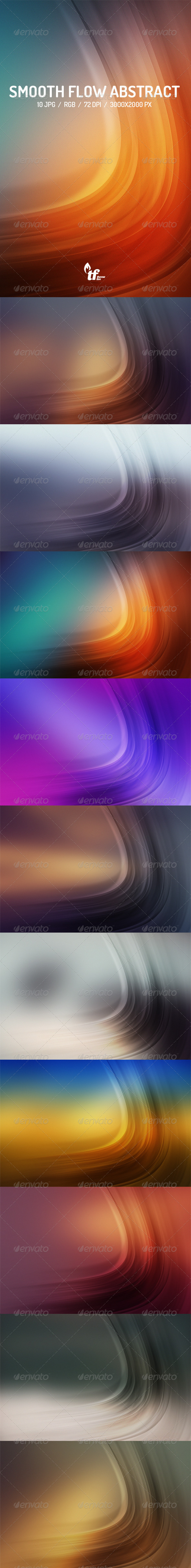 Smooth Flow Abstract Backgrounds