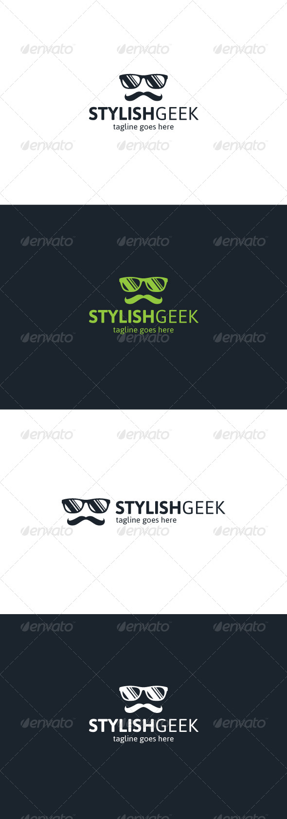 GraphicRiver Stylish Geek Logo 8241559