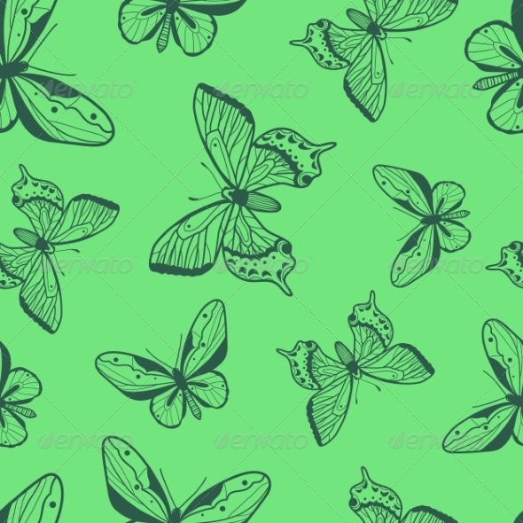 GraphicRiver Butterflies Seamless Pattern 8241604