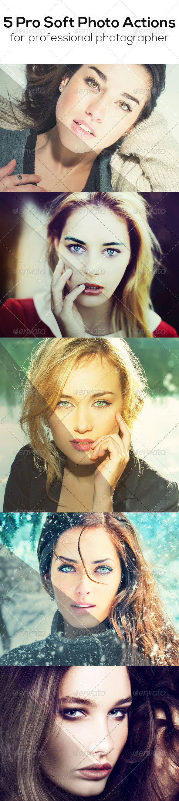 GraphicRiver 5 Pro Soft Photo Actions 8241606