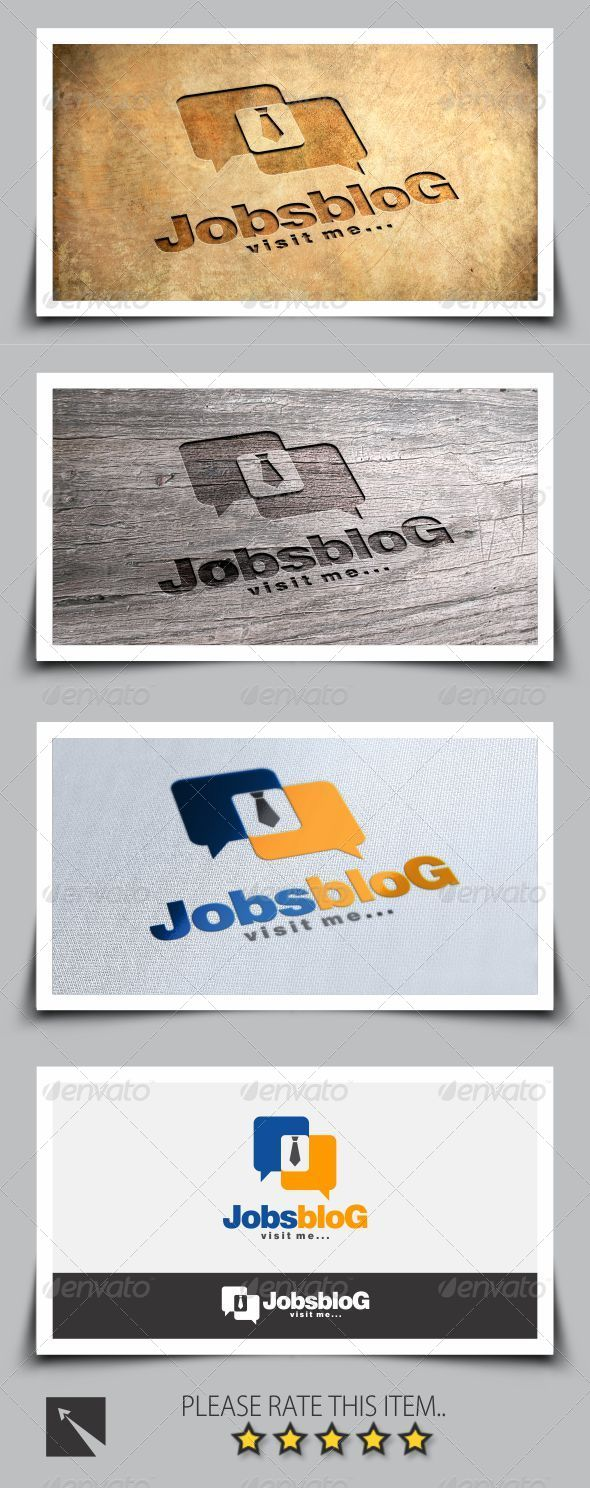 GraphicRiver Job Blog Logo Template 8241195