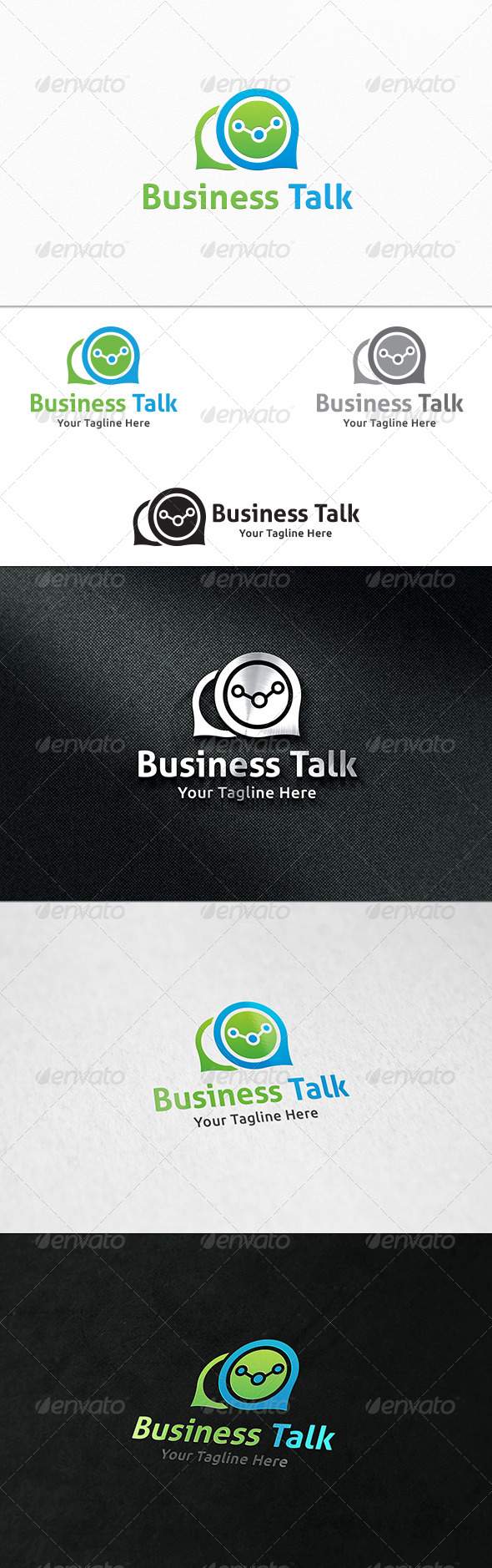 GraphicRiver Business Talk Logo Template 8241881