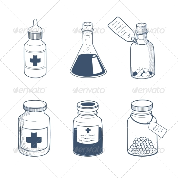 GraphicRiver Medicines Drugs Collection 8241897
