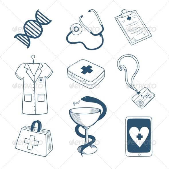 GraphicRiver Medical Staff Icons Collection 8241899