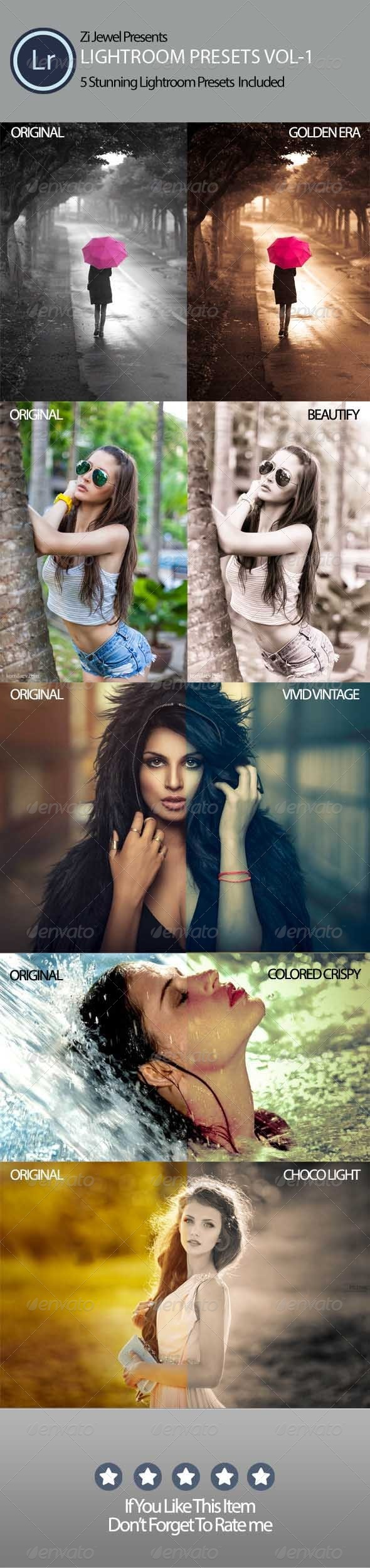 GraphicRiver Lightroom Presets vol-1 8193895