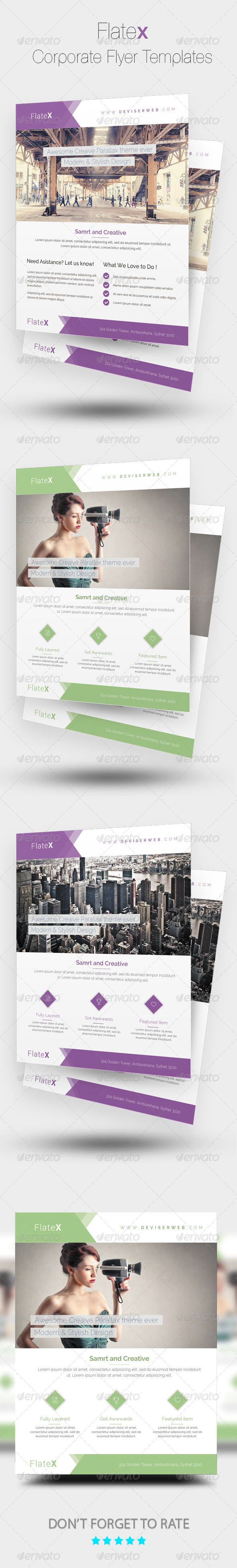 GraphicRiver Flatex Modern Corporate Flyer Templates 8241907