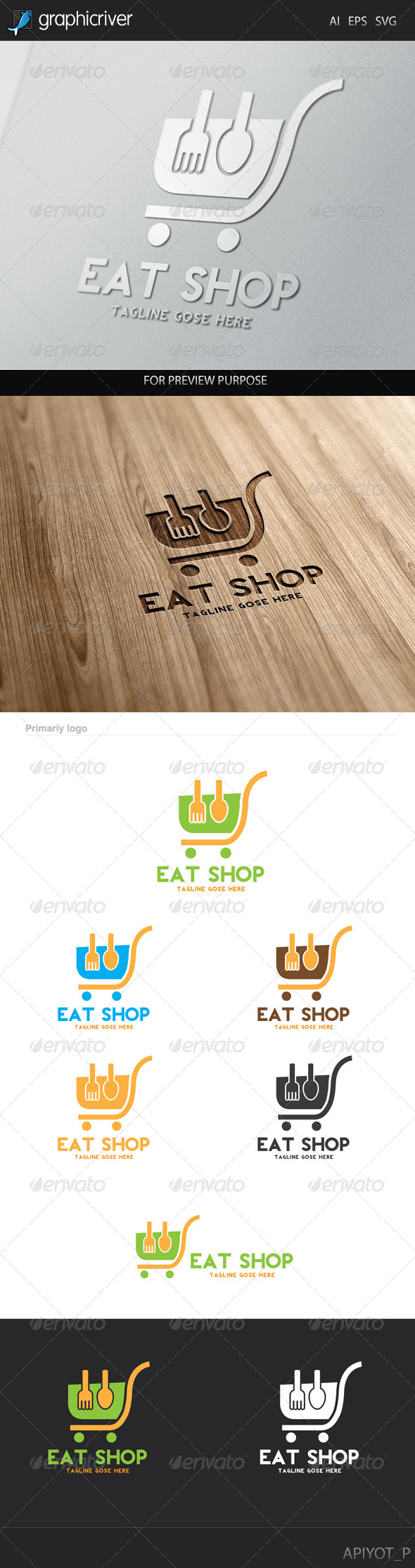 GraphicRiver Eat Shop Logo 8241908