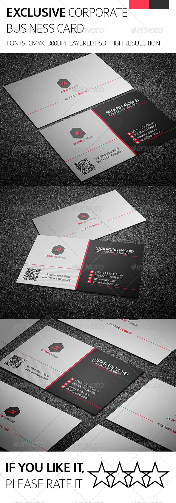 GraphicRiver Exclusive & Corporate Business Card 8234550