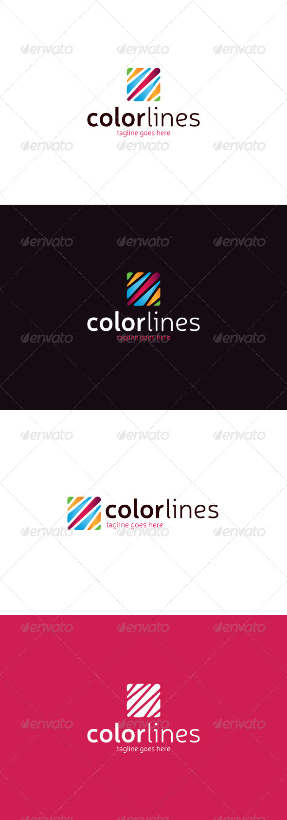 GraphicRiver Color Lines Logo 8241943