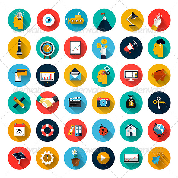 GraphicRiver Set of Flat Design Icons 8241949