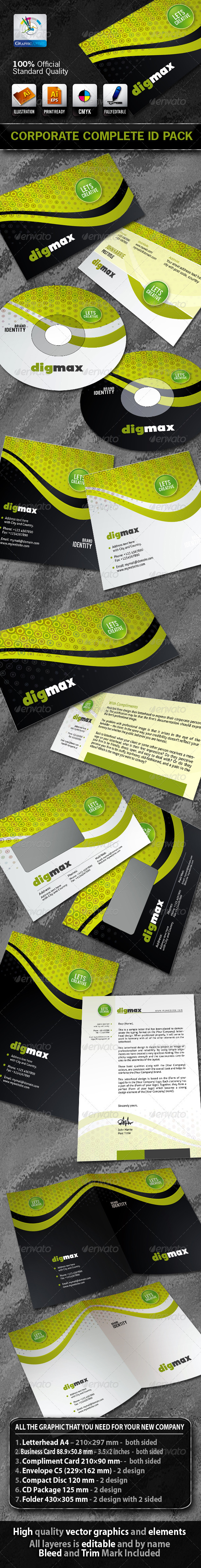 Graphic River DigMax Business Corporate ID Pack Print Templates -  Stationery 843748