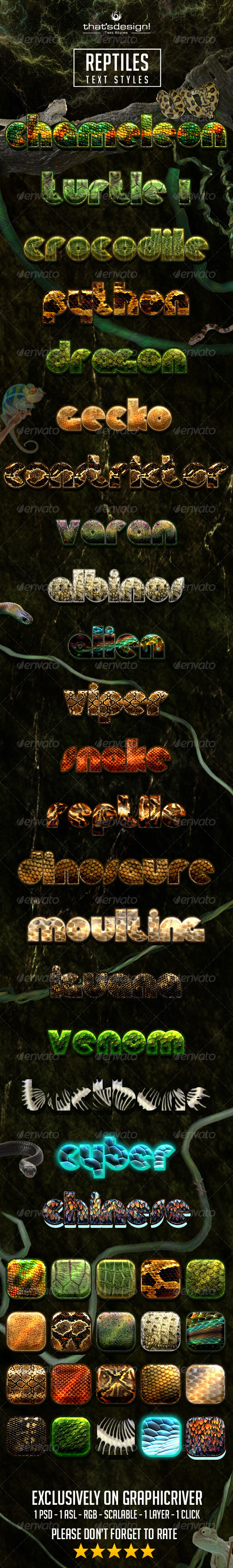 GraphicRiver 20 Reptile Text Styles 8241963