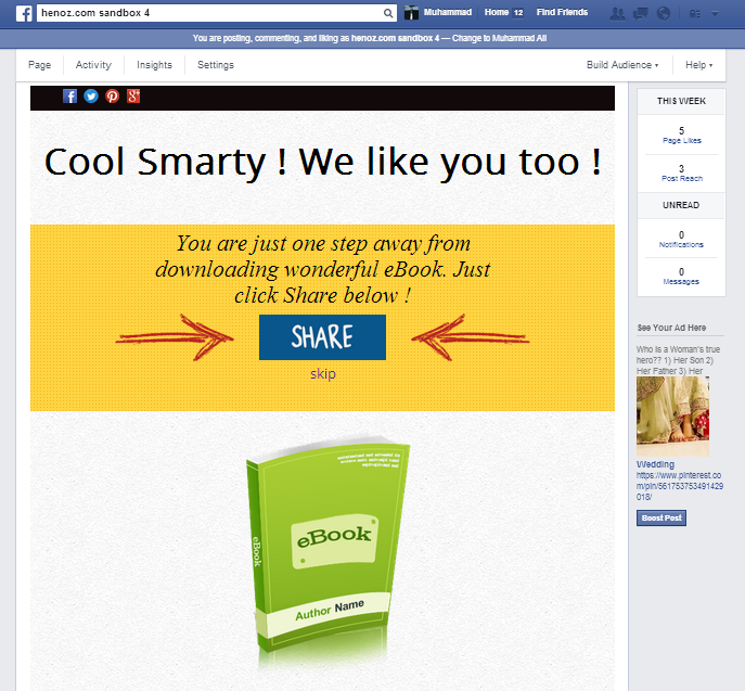 Facebook Share and Download Pro - 5