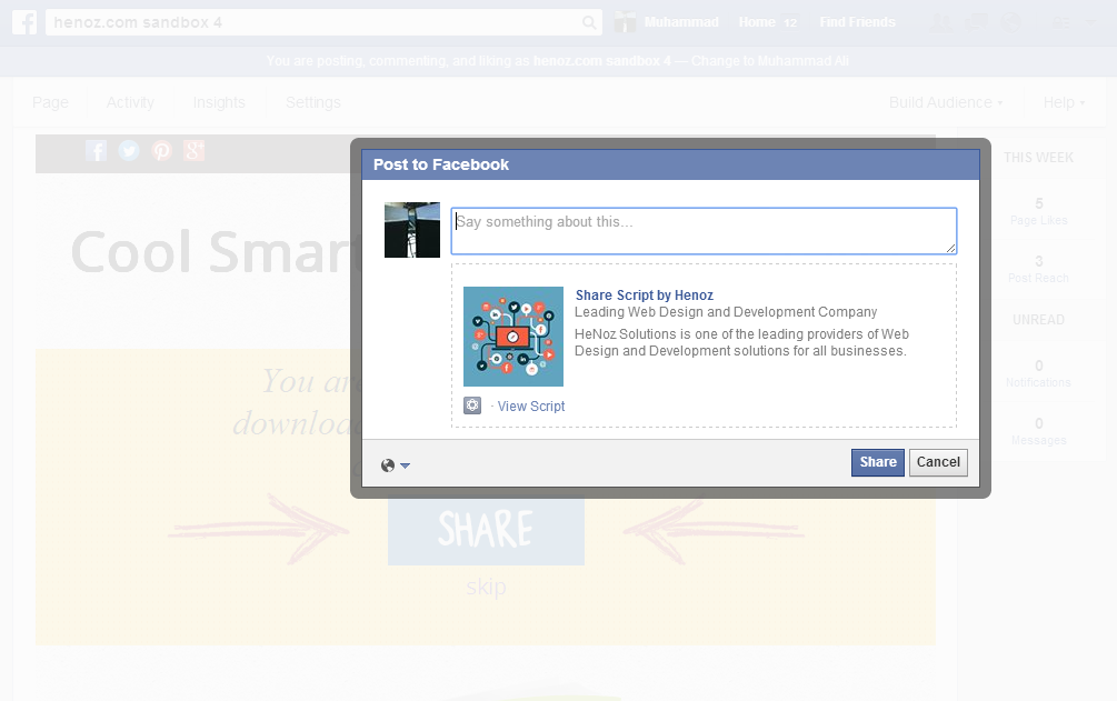 Facebook Share and Download Pro - 6