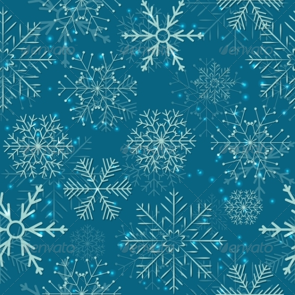 GraphicRiver Seamless Snowflakes Background 8242082