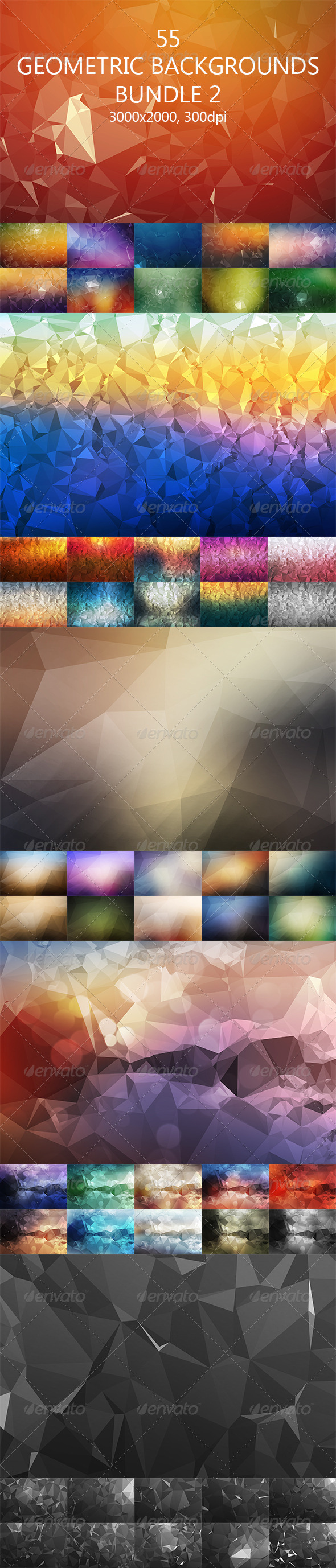 GraphicRiver 55 Geometric Backgrounds Bundle 2 8242134