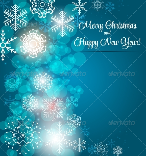 GraphicRiver Happy New Year and Merry Christmas Background 8242169