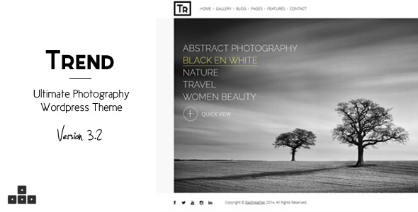 Trend - Photography WordPress Theme - Photography Creative