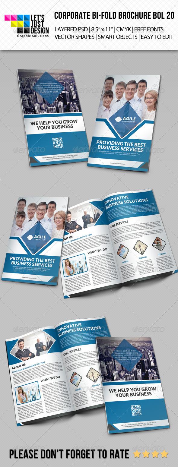 GraphicRiver Creative Corporate Bi-Fold Brochure Vol 20 8242181