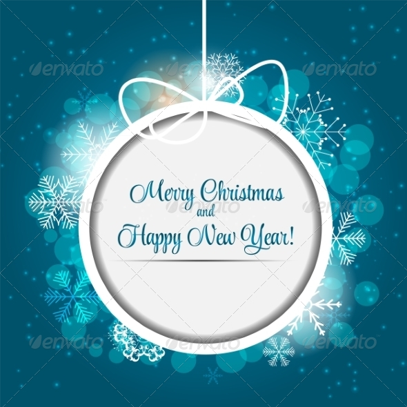 GraphicRiver Happy New Year and Merry Christmas Background 8242198