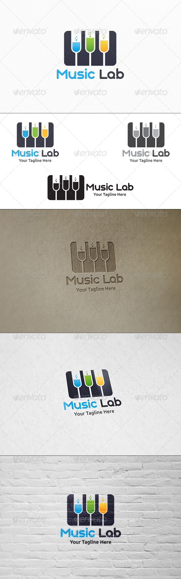GraphicRiver Music Lab Logo Template 8242222