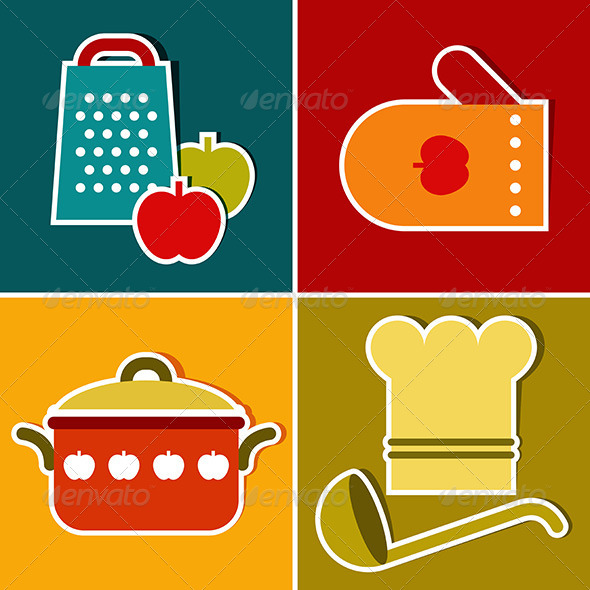 GraphicRiver Kitchen Symbols 8242224