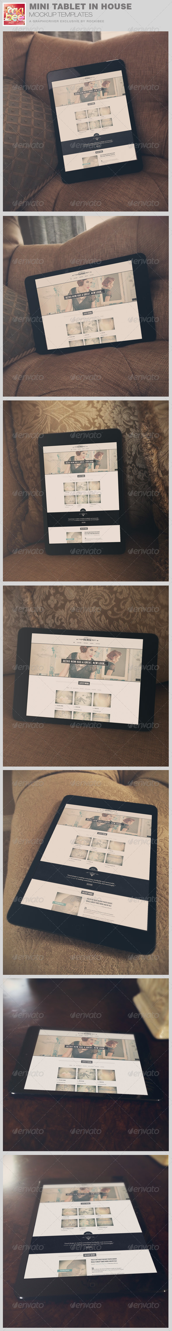 GraphicRiver Mini Tablet in House Mockup Template 8232785