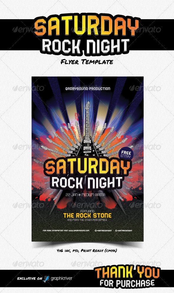 GraphicRiver Saturday Rock Night 8232170