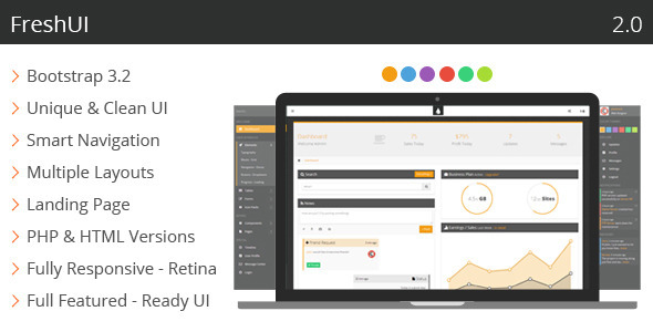 FreshUI Premium Web App and Admin Template