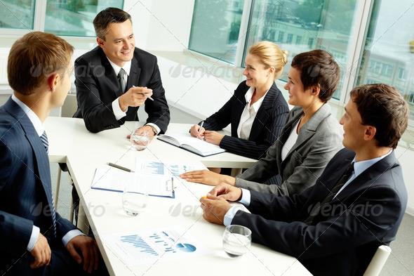 Sharing ideas - Stock Photo - Images