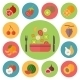 Fruit and Cooking Icons - GraphicRiver Item for Sale