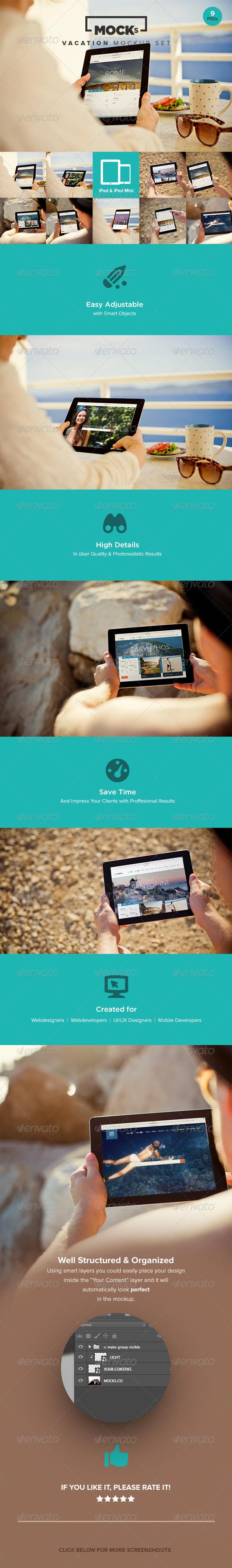 GraphicRiver Photorealistic iPad Mockup Templates 8230348