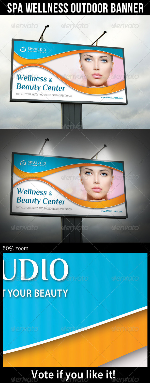GraphicRiver Spa Studio Outdoor Banner 09 8240543